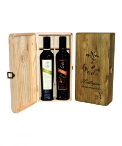 Extra Virgin Olive Oil in Wooden Gift Box